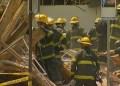 El edificio, de cuatro pisos, se derrumbó en la esquina de las calles 22 y Market Center