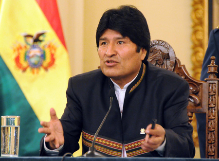 Morales no fijó fechas ni plazos para realizar esa demanda internacional