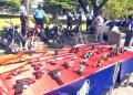 Éste es parte del arsenal de armas incautado por efectivos de la Policía de Aragua