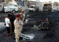 l menos 28 personas murieron este miércoles en dos atentados con carro bomba en dos barrios chiítas de Bagdad  AFP