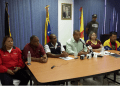 En la gráfica el presidente de CorpoMiranda, Américo Mata, la alcaldesa de Zamora, Thais Oquendo y el alcalde de Plaza, Rodolfo Sanz  CORTESÍA