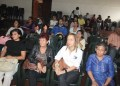 Atento durante las presentaciones estuvo el público presente en la Sala Leoncio Martínez de la Casa de la Cultura
