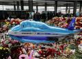 Altar en memoria de las víctimas del siniestro del Airbus A321 de MetroJet en el Sinaí montado en el aeropuerto Pulkovo de San Petersburgo