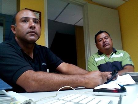 Carlos Quijano y Gerardo Bastidas, conductores de la línea Los Mirandinos.