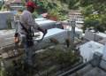 Se procedió a llenar el tanque con camiones cisternas debido a la escasez de agua que actualmente se presenta.
