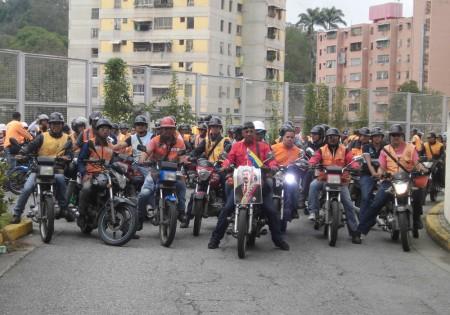 Más de 600 motorizados se movilizaron a Caracas