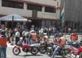 El frente de la sede de la alcaldía fue tomado por el gremio motorizado