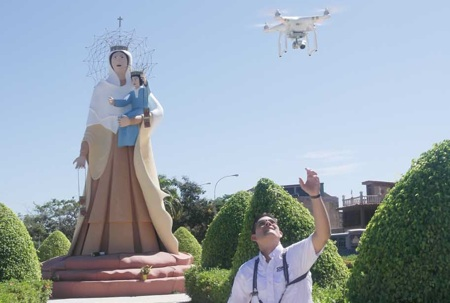 La población de Higuerote también fue grabada desde las alturas por los drones