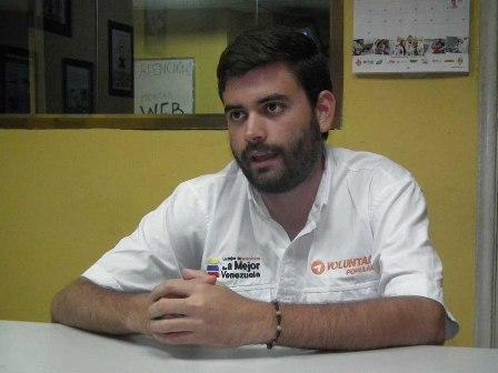 Jesús González representante de Voluntad Popular en el Municipio Guaicaipuro