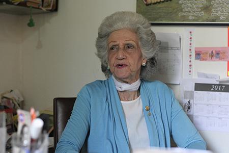 Olga de Suárez, presidenta de la Sociedad Bolivariana de Los Teques. Foto: Deysi Peña