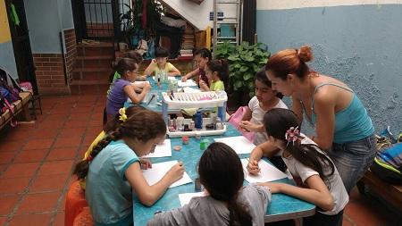 Un grupo de niños comenzó plan vacacional. Foto: Deisy Peña