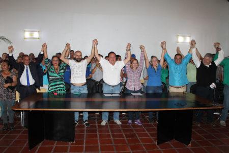 AD, Copei, UNT, MAS, Avanzada Progresista, IPP y Por Amor a Mi Pueblo se suman a la campaña del candidato opositor.
