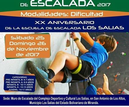 Abierto Nacional de interclubes de escalada se realizará este fin de semana en Los Salias