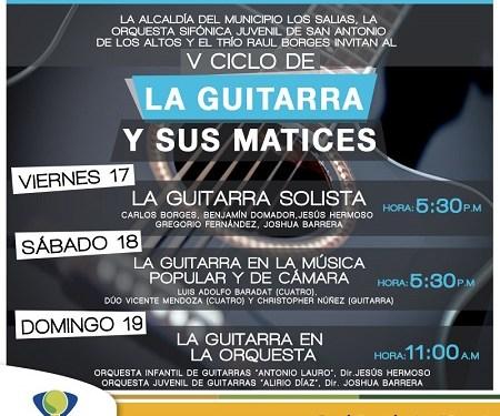 """La guitarra y sus matices se presentará este fin de semana en el Teatro Municipal """"Vidal González"""""""