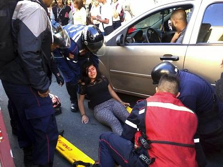 Motorizado arrolló a joven en La Hoyada