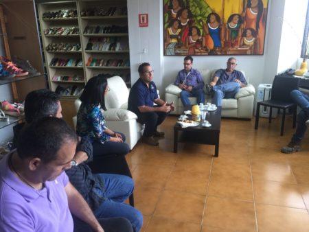 Hablaron sobre la responsabilidad social y el trabajo en pro de la comunidad, porque Medina busca resolver en el municipio