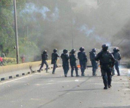 GNB y PNB dispersó protesta en km 2 de la Panamericana. Foto: Archivo
