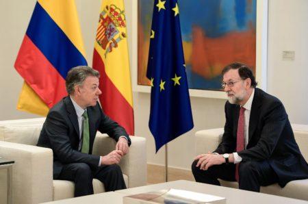 Rajoy y Santos piden solución plenamente democrática para Venezuela