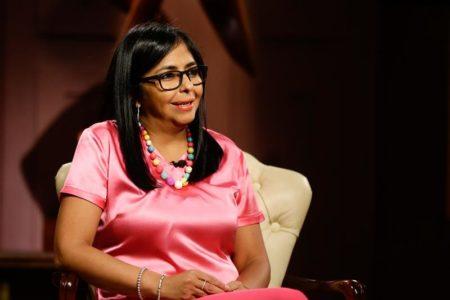 """""""Hoy Venezuela vive un momento particular donde es víctima de una agresión multiforme dirigida desde los Estados Unidos"""", dijo Rodríguez"""