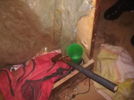Arma utilizada por el asesino.
