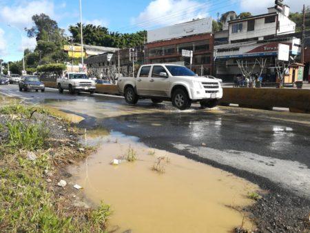 Falla del kilometro 15 de la PNM está siendo reparada bajo tierra por empresa estadal