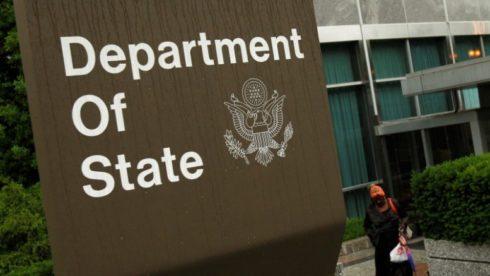 """Imagen de archivo del edficio del Departamento de Estado de Estados Unidos en Washington, jun 5 2009. El Departamento de Estado de Estados Unidos dijo el miércoles que impondrá restricciones de viaje a """"varios funcionarios del Gobierno venezolano"""" que dijo que están involucrados en abusos a los derechos humanos.   REUTERS/Jim Young"""