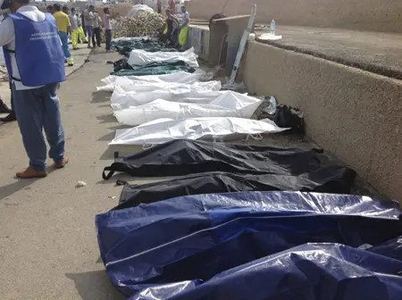 La mañana de este jueves naufragó una barcaza con cerca de 300 inmigrantes procedentes de Libia que intentaban llegar a la isla de Lanpedusa. AP
