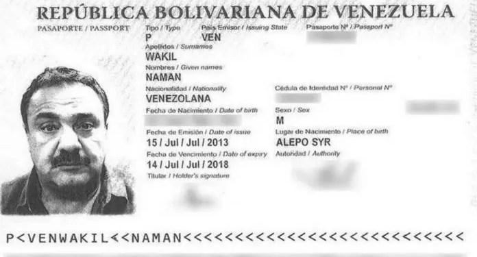 Pasaporte del empresario detenido en Miami