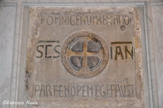 Tomba di Partenope Partenopem Tege Fauste