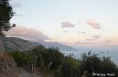 sentiero per Ieranto al tramonto