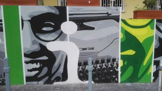 Un murales per Giancarlo Siani