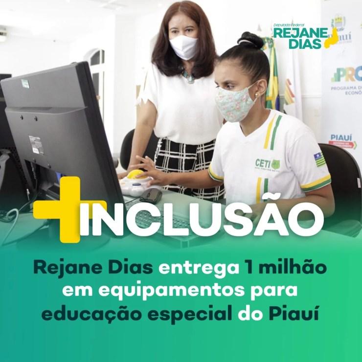 Rejane Dias entrega equipamentos para educação especial do Piauí