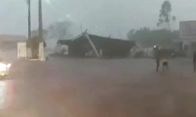 Temporal destrói estrutura de posto de combustível no Norte do Piauí