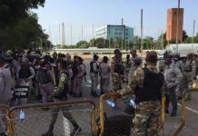 ¡Otra vez!, militarizan alrededores del Congreso Nacional ante anuncio de protestas