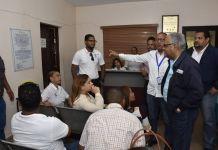En Hato Mayor el ministro de Salud, Rafael Sánchez Cárdenas, recorrió las instalaciones de lo que será el nuevo Centro Integral de Salud Renal Comunitario.