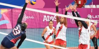 Medina y Margarita felicitan a las Reinas del Caribe por su oro en Lima. (foto fuente externa).