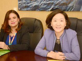 La directora regional adjunta para AL y el Caribe de WFP, Kyung-nan Park, y Elisabet Fadul, oficial de Programas del WFP