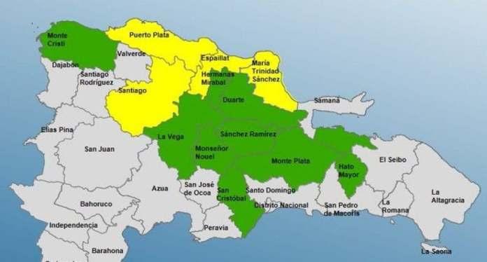 COE aumenta a 13 las provincias en alerta por lluvias