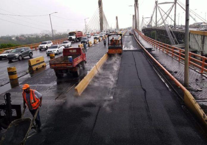 MOPC anuncia que reparación del puente Juan Bosch está a punto de culminar