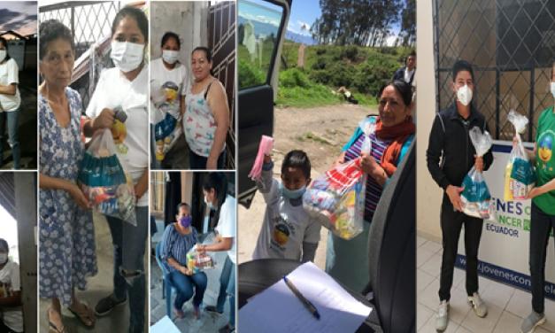 Fundación Jóvenes contra el cáncer del ecuador entrega kits de ayuda en todo el país