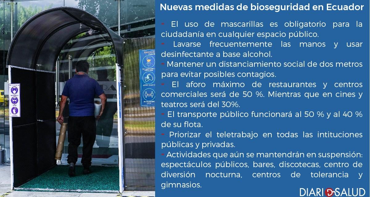 Las nuevas medidas de bioseguridad en Ecuador rigen desde hoy