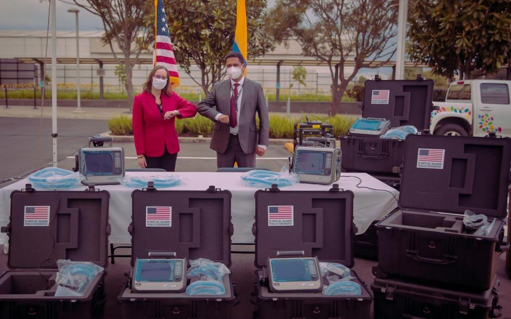 Estados Unidos donó ocho respiradores para pacientes afectados con covid-19