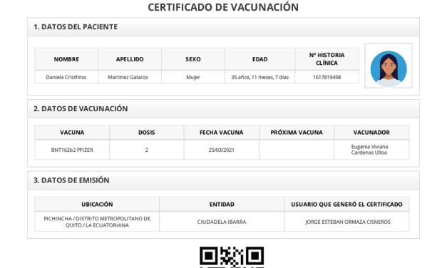 Desde este lunes podrá obtener el certificado de vacuna en línea