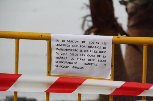 COSTAS ACOTO LA ZONA DE OBRAS EN PEÑA PARDA LA HERRADURA 16
