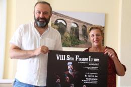 OLGA RUANO Y ANTONIO CANTUDO PRESENTACION CARTEL TEATRO GRECOLATINO 16