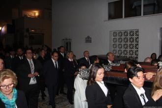 ALCALDESA TRINIDAD HERRERA Y CORPORATIVOS ACOMPAÑARON LA PROCESION 17