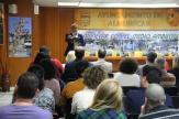LUIS ARAGON DURANTE SU INTERVENCION EN EL ACTO 16