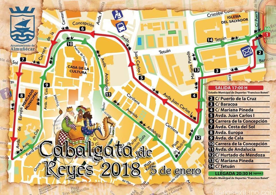 RECORRIDO CABALGATA REYES ALMUÑECAR 2018 – copia