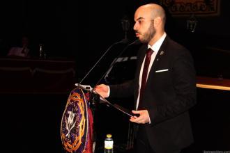 Pregonero Semana Santa Almuñecar 2018 David Martín García durante su intervención
