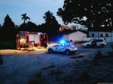 BOMBEROS POLICIA LOCAL Y GUARDIA CIVIL SE PERSONARON EN LA ZONA 18